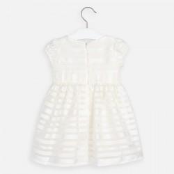 Kleid Organza Streifen
