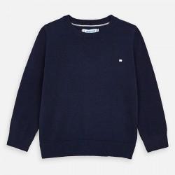 Pullover Rundkragen Basic blau
