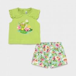 Set Shorts Frosch Baby Mädchen